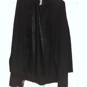 NWT Neiman Marcus Cashmere Shawl Cape in Black